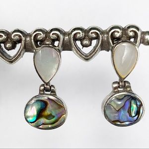 Mother of Pearl & Abalone Sterling Silver Earrings